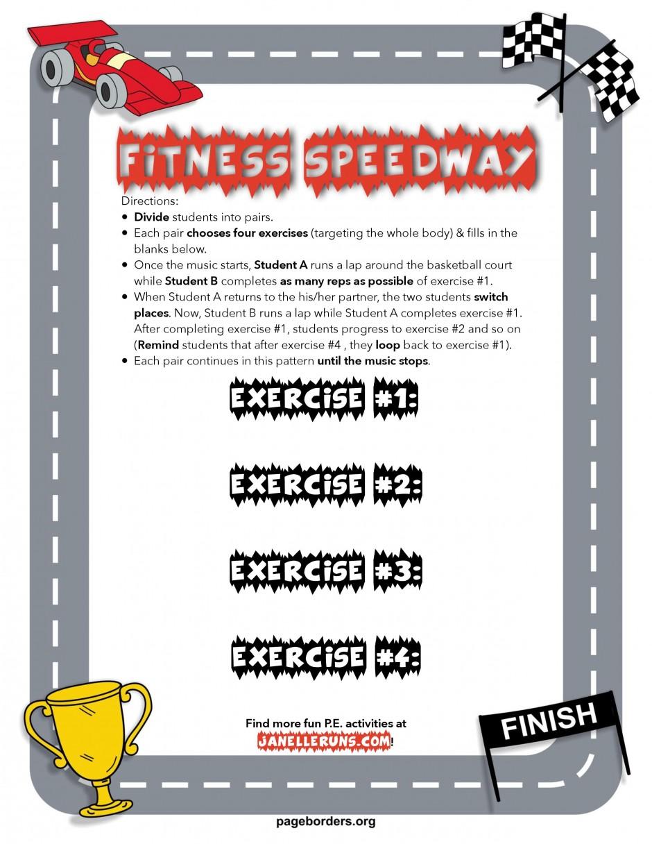 Fitness Speedway - Janelle Runs-PE Warm Up